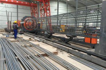 fabricat a la Xina simple operació resistent i resistent garantia de qualitat màquina de soldadura de gàbia de varetes d'acer i reforç de fabricació de gàbies